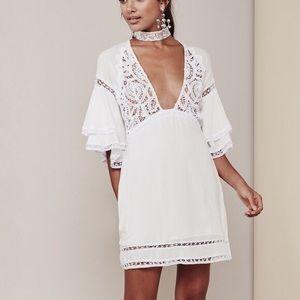 for love & lemons | elenora white mini dress